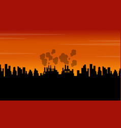 Bad environment with many industry landscape vector