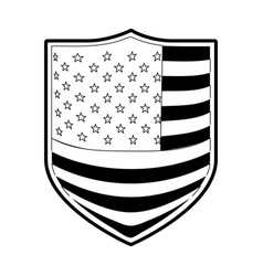 Badge with flag united states of america in vector