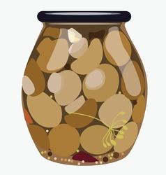 bank of mushrooms vector image