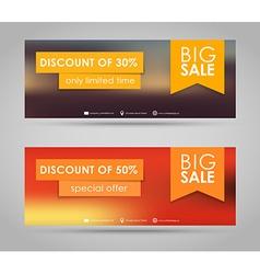 Banner design for sale vector image vector image