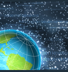 binary background with planet vector image