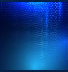 binary code techno background vector image