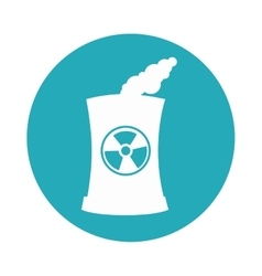 Building factory nuclear isolated icon vector
