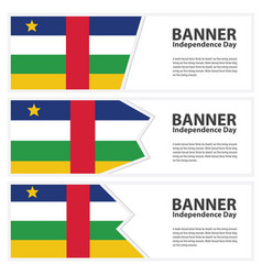Central african republic flag banners collection vector