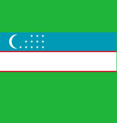 Colored flag of the uzbekistan vector