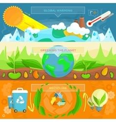 Ecology Banner Set design Flat vector image