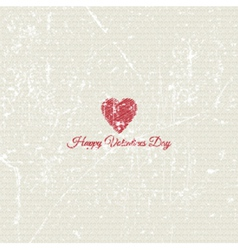 grunge valentines day background 1701 vector image vector image