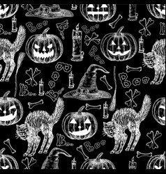 halloween holiday seamless pattern of vector image