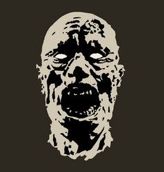 horror face vector image vector image