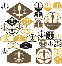 justice vector image vector image
