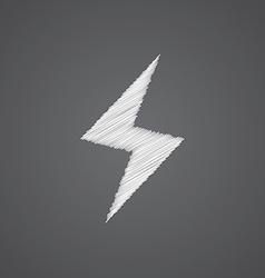 Lightning sketch logo doodle icon vector