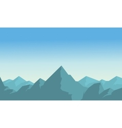 Mountain on blue sky landscape vector