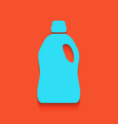 Plastic bottle for cleaning whitish icon vector