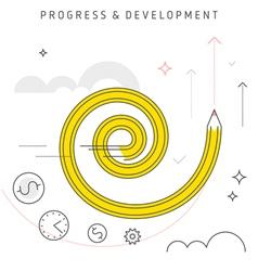 Progress development vector