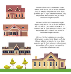property advertising poster design with flat vector image