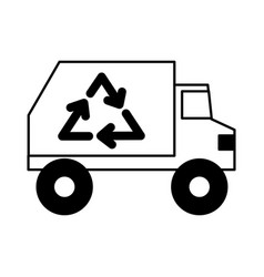 Recycle truck icon vector