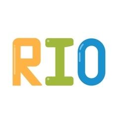 Rio olympic logo vector