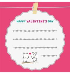 Romantic card38 vector image