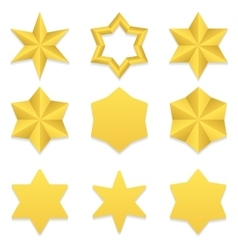 Six point stars collection vector image