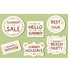 Summer tags vector