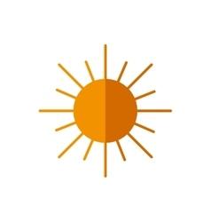 Sun abstract sky circle orange icon vector