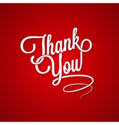 thank you vintage lettering background vector image