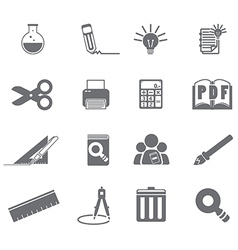 tools learning icon set 5 vector image vector image