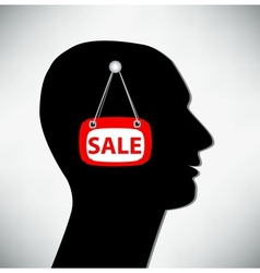 Conceptual of a man Brains for sale vector image