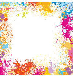 frame template made of paint stains vector image