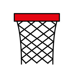Basketball balloon isolated icon vector