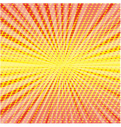 Pop art style halftone explosion with light rays vector