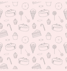 Sweets seamless pattern for design vector