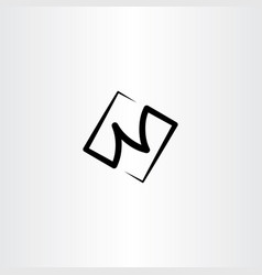 N black logo letter icon symbol vector