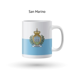 San marino flag souvenir mug on white background vector