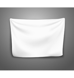 Blank banner with pleats vector