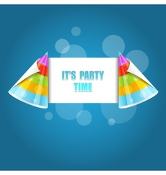 Party hat isolated on the blue vector