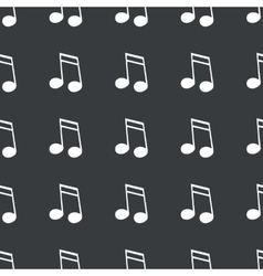 Straight black 16th note pattern vector