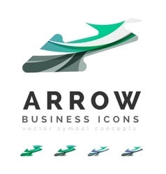 Set of arrow logo business icons vector