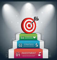 3 steps to success vector