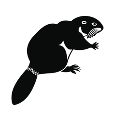 Beaver icon simple style vector