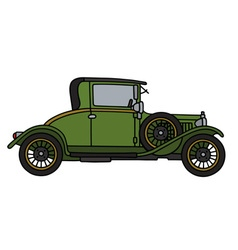Vintage green car vector