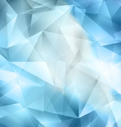 Crystal blue background vector