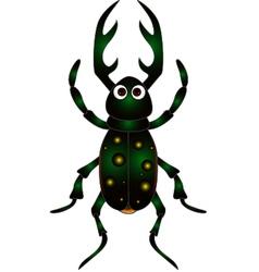 Cartoon beetle on white background vector