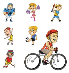 athletes collection vector image vector image
