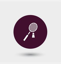 badminton icon simple vector image