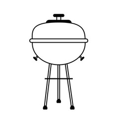 Bbq barbecue grill icon image vector