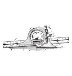 Bevel protractor measure angles that open to the vector