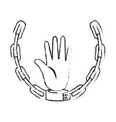 Chain of slavery vector