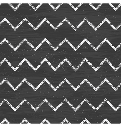 Chalk chevron blackboard seamless pattern vector