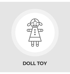 Doll toy flat icon vector